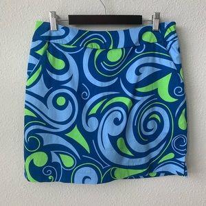 Loudmouth | Golf Skirt Skort Blue Green Swirl N33